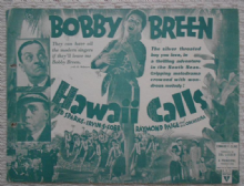 Hawaii Calls, Flyer/Herald, Bobby Breen, Ned Sparks, '38
